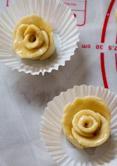 cách làm bánh khoai hấp hình hoa hồng đẹp mê ly phần 10