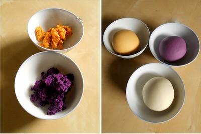 Cách làm bánh khoai 3 màu cực kỳ lạ mắt và hấp dẫn phần 1