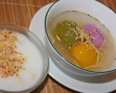 Cách nấu chè trôi nước ba màu ngon tuyệt phần 3