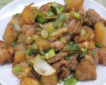 cách nấu món thịt gà xào khoai tây chiên thơm ngon, bổ dưỡng