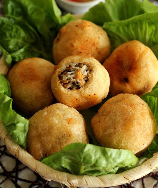 cách làm bánh rán mặn nhân thịt ngon bằng bột mì