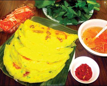 cách làm món bánh xèo theo khẩu vị miền Trung
