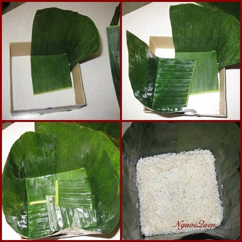 cách gói bánh chưng bằng lá chuối có dùng khuôn ngon nhất phần 3