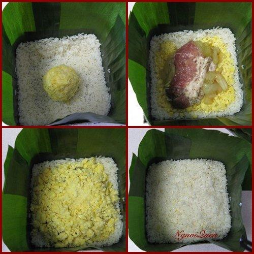 Cách gói bánh chưng bằng lá chuối có dùng khuôn ngon nhất phần 4