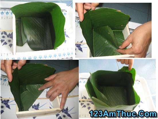 cách gói bánh chưng bằng lá dong có dùng khuôn đơn giản nhất phần 2