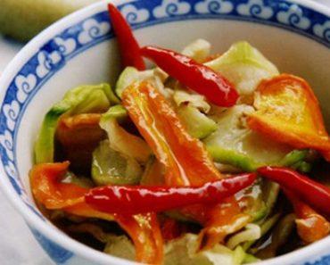 cách làm dưa món chua ngọt bằng rau củ quả cực ngon