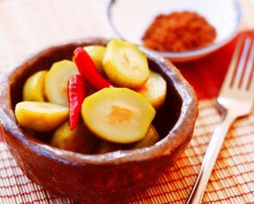 cách làm món cóc non ngâm muối đường, ăn là ghiền