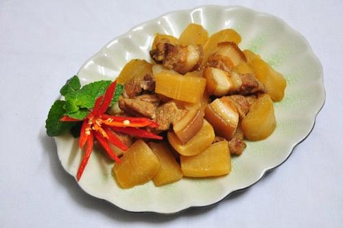 cách làm món thịt kho củ cải trắng món ngon ít người biết
