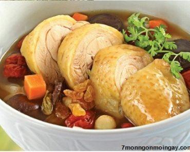 Cách làm món thịt gà hầm hạt sen với nấm và ngải cứu ngon nhất