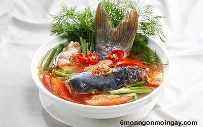 Cách nấu món canh chua cá chép tốt cho sức khỏe bà bầu