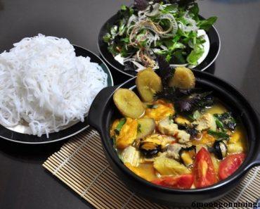 cách làm ốc nấu chuối đậu ngon mà đơn giản nhất