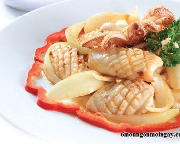 cách nấu mực xào sa tế thơm ngon hấp dẫn