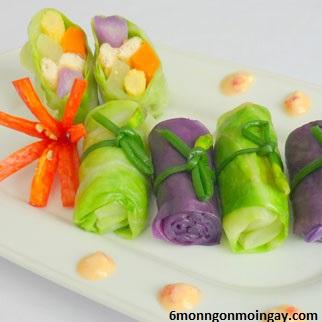 cách làm món bắp cải gói đậu hủ chay ngon dành cho Phật tử