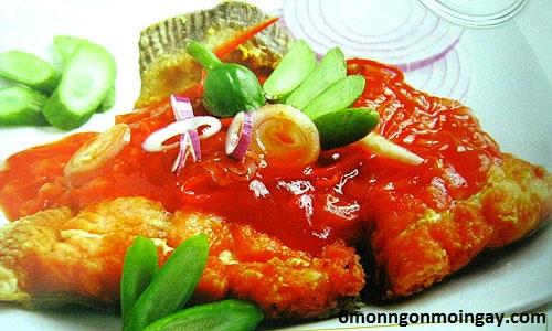 cách làm cá hồi sốt cà chua bổ dưỡng cho trẻ