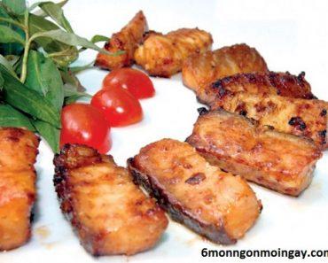 cách làm cá tầm nướng muối ớt cho bữa tiệc gia đình