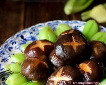 cách làm cải chíp sốt dầu hào nấm hương tốt cho sức khỏe