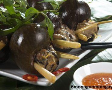 cách làm ốc bươu nhồi thịt hấp sả ngon ăn mãi không ngán
