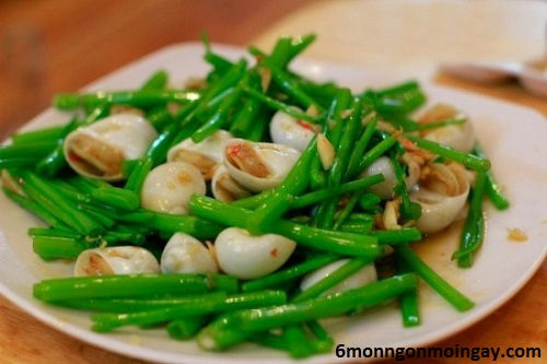 cách làm ốc mỡ xào rau muống ngon giàu vitamin