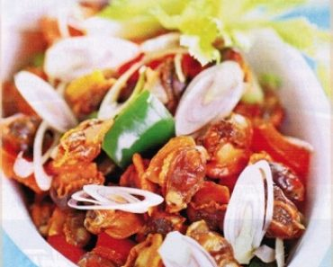 cách làm sò lông xào sa tế ớt chuông cho tín đồ ăn cay