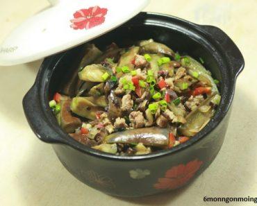 cách nấu cà tím om thịt kiểu trung quốc ngon chưa từng thấy