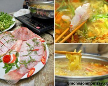 cách nấu lẩu cá diêu hồng măng chua ngon đậm đà