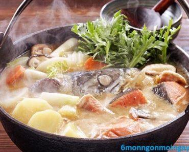 cách nấu lẩu cá hồi ngon hơn ngoài quán