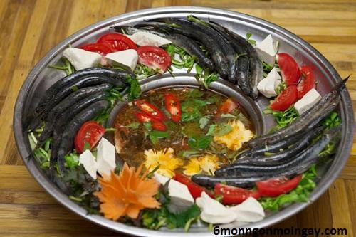 cách nấu lẩu cá kèo lá giang chua thanh hấp dẫn