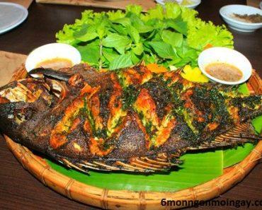 cách làm cá rô phi nướng với hành và rau răm đơn giản ngon thơm