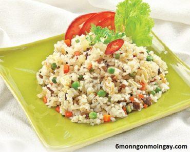 cách làm cơm chiên dương châu chay ngon không kém món ăn mặn
