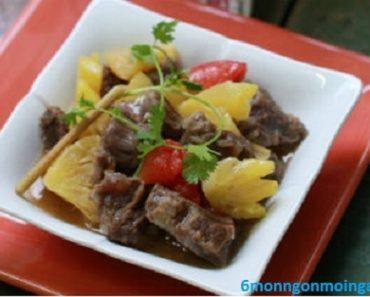 cách làm thịt bò kho dứa (thơm) cho cả nhà mê mẩn
