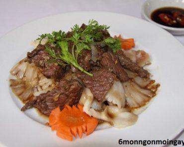 cách làm thịt bò xào nấm bào ngư ngon bổ sung dinh dưỡng cho bà bầu
