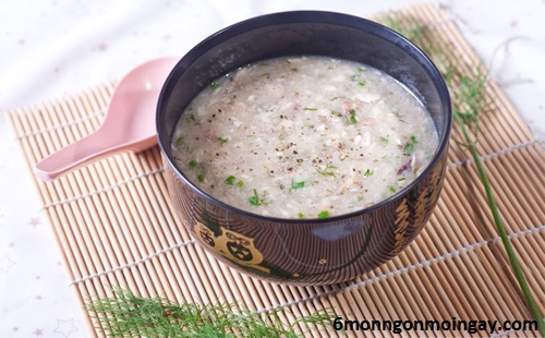 cách nấu cháo cá lóc đậu xanh nấm rơm rất ngon và thơm không bị tanh