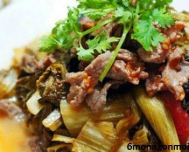 cách nấu thịt bò kho dưa chua thơm ngon đảm bảo không bị dai