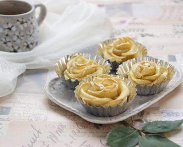Cách làm bánh tart táo hoa hồng giòn ngon cực đẹp mắt
