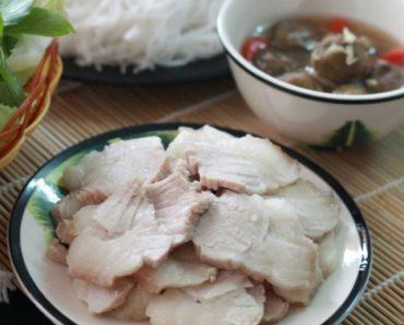 Cách làm bún thịt luộc và sấu kho chua thanh cực hấp dẫn
