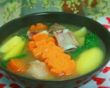 Cách làm canh rau củ nấu sườn kích thích vị giác