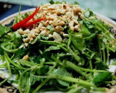 Cách làm món gỏi rau muống chay cho tết hàn thực
