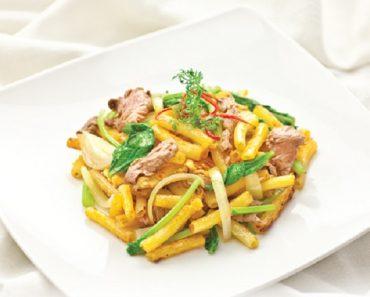 Cách làm nui xào thịt bò thơm ngon cho thực đơn bữa tối
