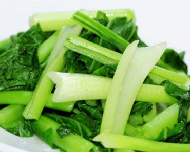 Cách làm rau cải ngọt luộc giòn ngọt cực đơn giản