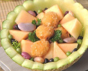 Cách làm salad bốn mùa trộn sốt sữa dừa thơm ngọt mát cực béo ngậy