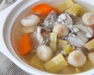 Cách nấu canh mía lau cà rốt thịt nạc ngọt lịm tự nhiên