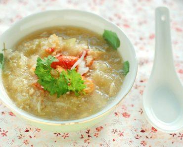 Cách nấu súp đậu bí ngô và tôm tươi thực đơn cho bé biếng ăn
