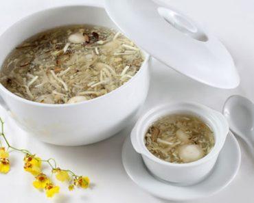 Cách nấu súp giá đỗ nấm đông cô thơm ngon hảo hạng