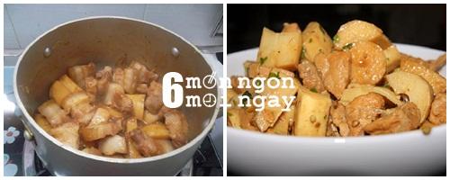 Cách làm món măng kho thịt ba chỉ cực ngon thử là ghiền - 4