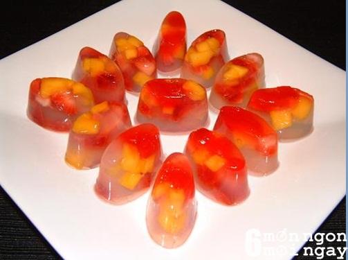 Cách làm thạch dừa hoa quả tại nhà cực đơn giản - hình 1