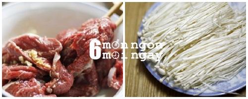 Cách làm món thịt bò cuộn nấm kim chi nướng ngon khó tả - hình 2