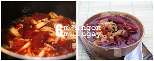 Cách nấu canh củ dền thơm ngon bổ dưỡng cho cả nhà - hình 5