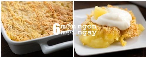 Cách làm bánh dứa phủ bơ dừa béo ngậy thơm ngon - hình 4