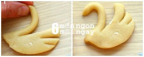 Cách làm bánh quy bơ hình thiên nga cực đáng yêu - hình 5