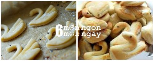 Cách làm bánh quy bơ hình thiên nga cực đáng yêu - hình 6